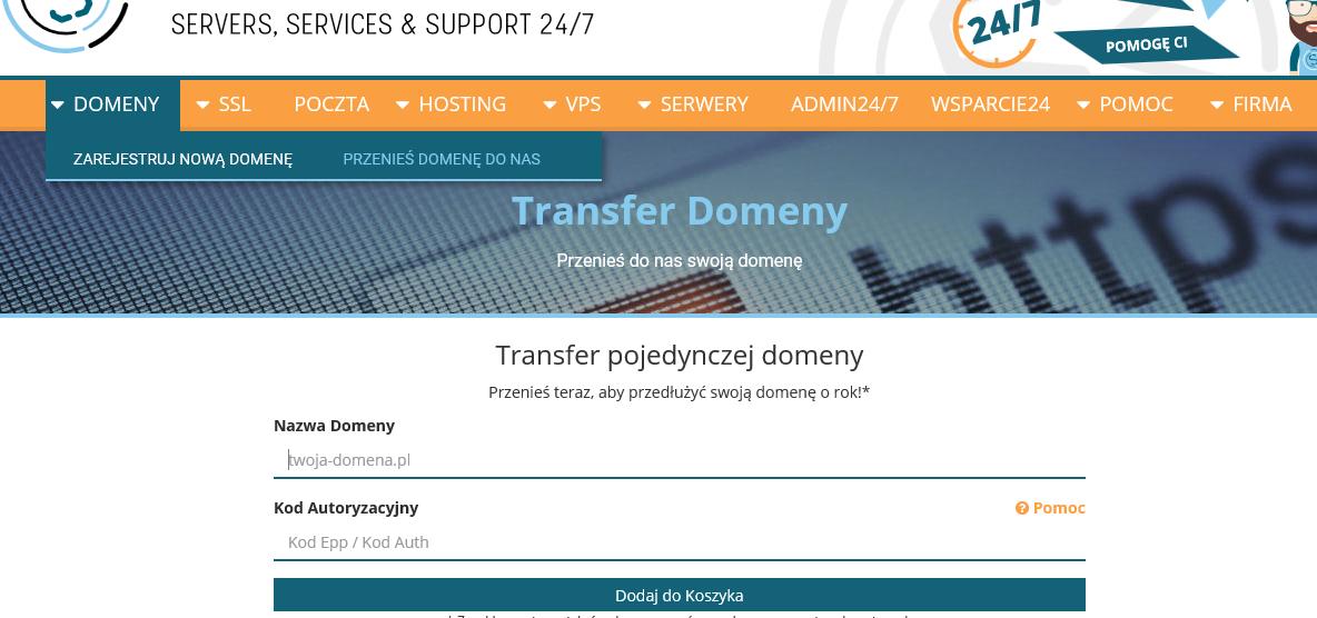 transfer-domeny