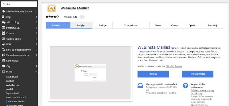 Webinsta Maillist